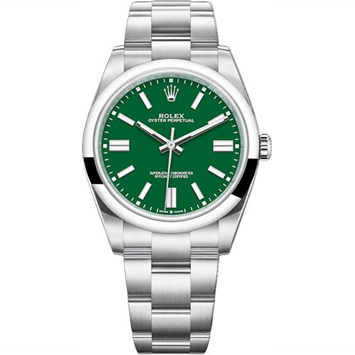 Rolex Oyster Perpetual Datejust Green Dial 124300 Watch