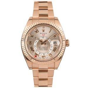 Rolex 326935 Sky-Dweller 42mm Sundust Roman Dial Watch