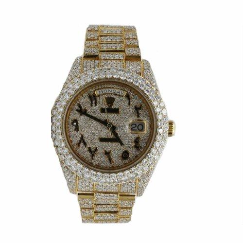 Rolex DAY-DATE II 218238 Full Diamonds Watch