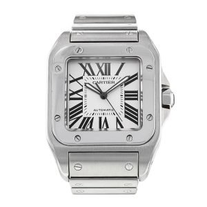 Cartier Santos 100 W20073X8 Stainless Steel White Dial