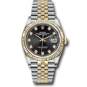 Rolex Datejust 36mm 126233 Black Diamond Dial Jubilee