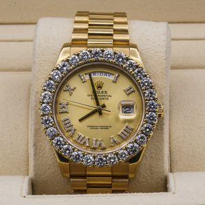 Rolex Day-Date 218238 18kt Yellow Gold President Aftermarket Dial and Bezel Mens Watch
