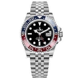 Rolex GMT-Master II 126710BLRO Pepsi Bezel Jubilee Bracelet Black Dial