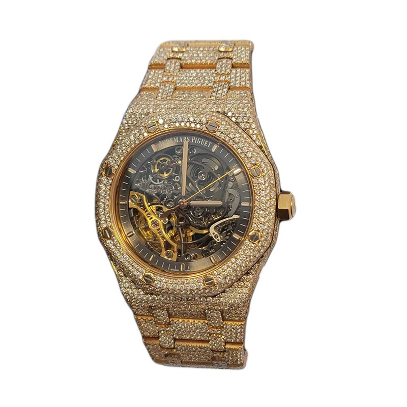 Audemars Piguet 15407OR Iced Out Diamonds Watch