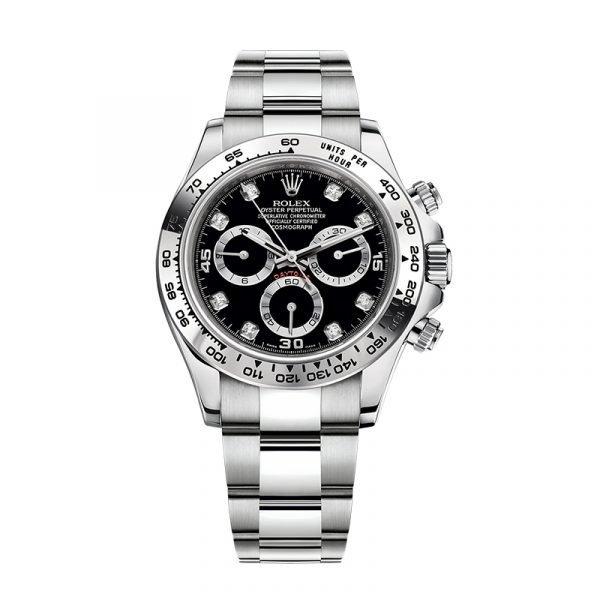 Rolex 116509 Daytona Black Dial Diamonds Watch