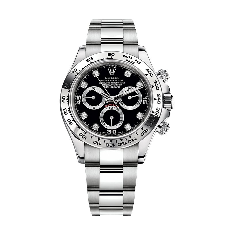 Rolex 116509 Daytona Black Dial Diamonds Watch