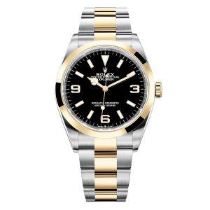 Rolex 124273 Explorer Black Dial Two Tone Watch
