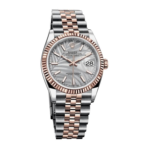Rolex 126231 Datejust 36 Silver Palm Dial Watch