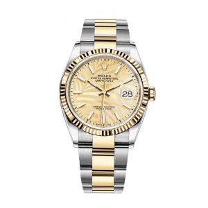 Rolex 126233 Datejust Golden Palm Dial Watch