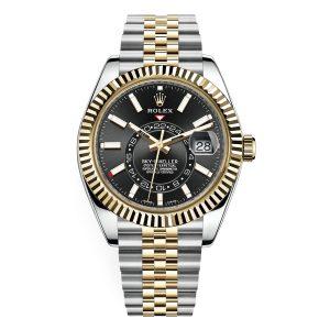 Rolex 326933 Sky-Dweller Black Dial Jubilee Bracelet Watch