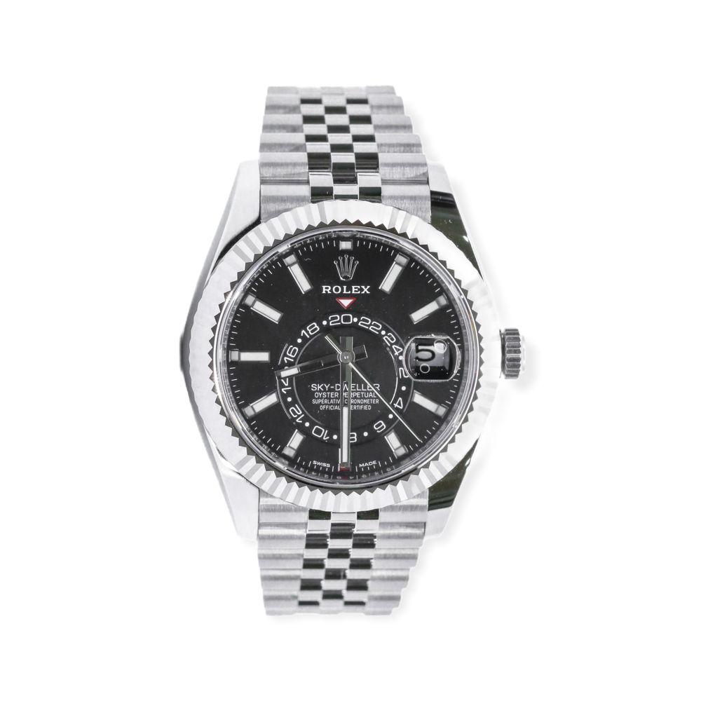 Rolex 326934 Sky-Dweller Automatic Black Dial Watch with Big Watch