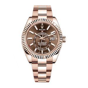 Rolex Sky-Dweller 326935 Everose Gold Chocolate Dial Watch