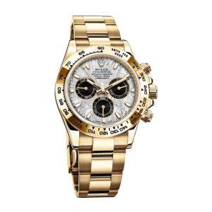 Rolex 116508 Cosmograph Daytona 18 CT Gold Meteorite Dial Watch