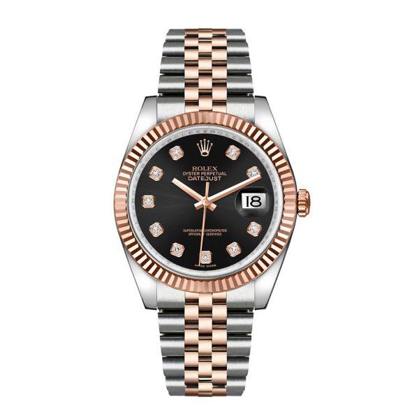 Rolex 116231 DateJust Black Diamond Dial