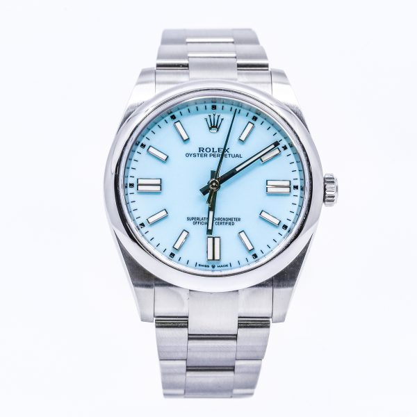 Rolex 124300 Oyster Perpetual Turquoise Dial