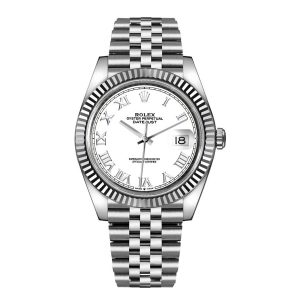 Rolex 126334 Datejust 41mm White Roman Dial