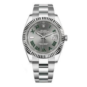 Rolex 126334 Datejust 41mm Stainless Steel Oyster Wimbledon Dial