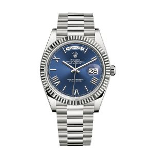 Rolex Day-Date 228239 White gold Blue Dial Watch