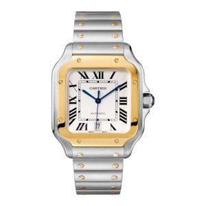 Cartier W2SA0009 Santos White Dial Watch