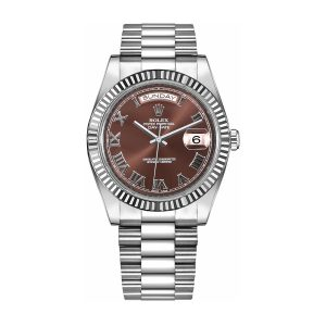 Rolex 218239 Day-Date Chocolate Dial 41mm Watch