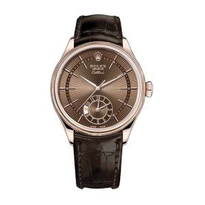 Rolex Cellini 50525 39mm Brown Dial Watch